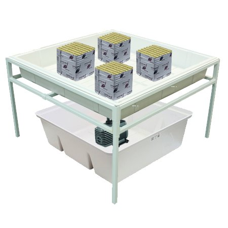 hydroponic grow trays stands. Black Bedroom Furniture Sets. Home Design Ideas