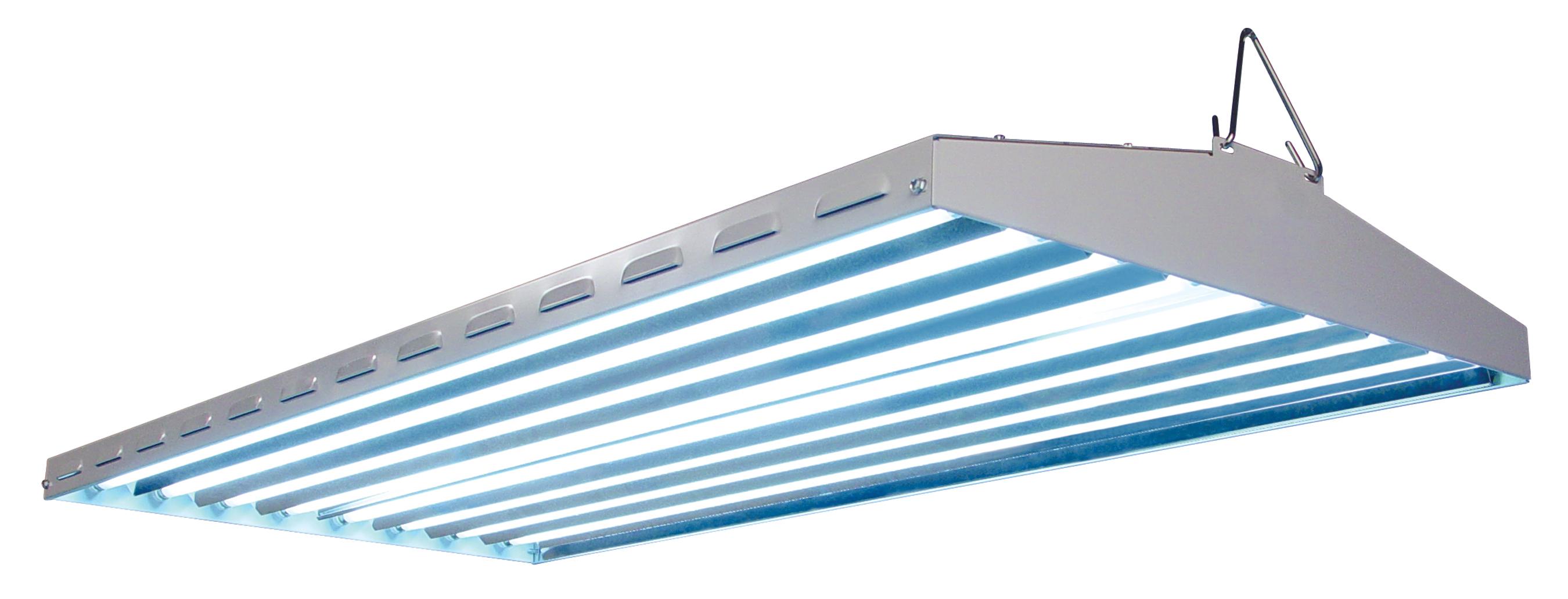 8 Bulb 277v No Lamps Fluorescent Grow Light Aluminum Reflectors Quantum T5 4/'
