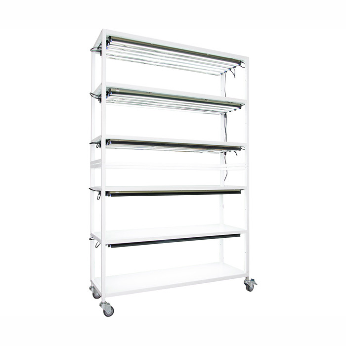 Hydrofarm Vertical Grow Shelf Unit, 6 Shelves With Wheels