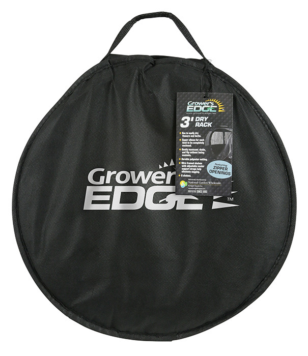 Grower's Edge Dry Rack Enclosed With Zipper Opening