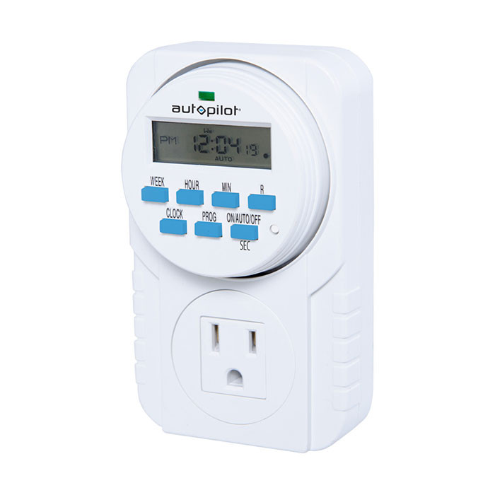 Autopilot 7 Day Grounded Digital Programmable Timer Grow