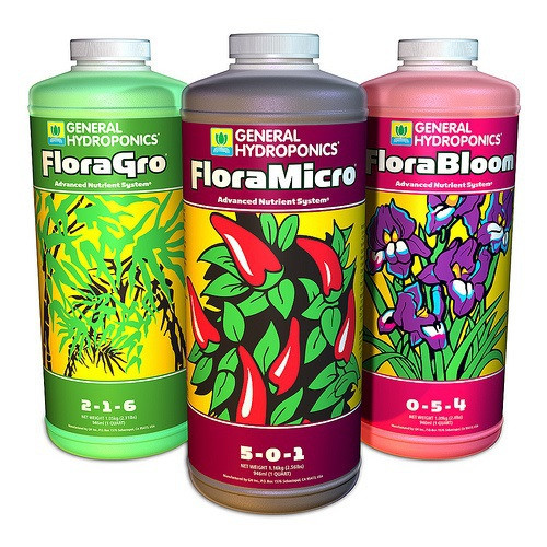 General Hydroponics Flora Series Basic Nutrient Package