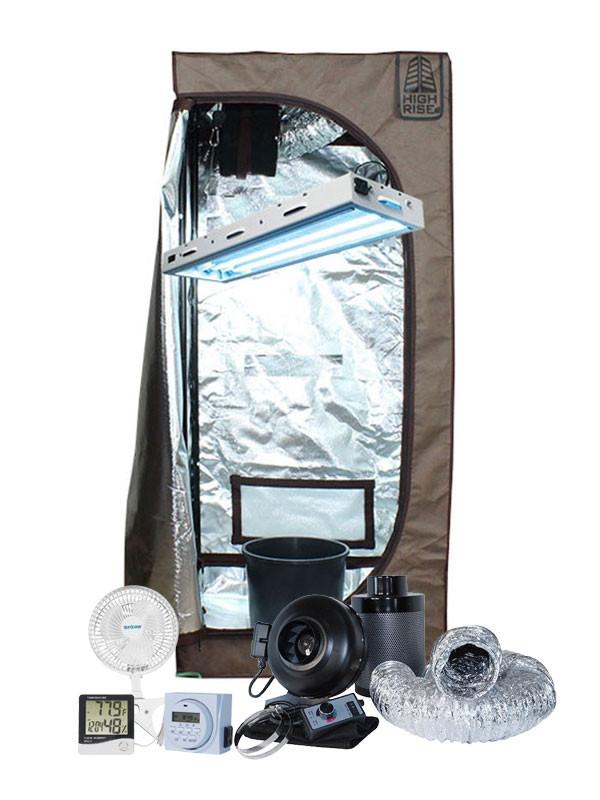 High Rise 2u0027 x 2u0027 x 5u0027 Veg Fluorescent T5 Soil Grow Tent Kit  sc 1 st  Hydrobuilder.com & Rise 2u0027 x 2u0027 x 5u0027 Veg Fluorescent T5 Soil Grow Tent Kit