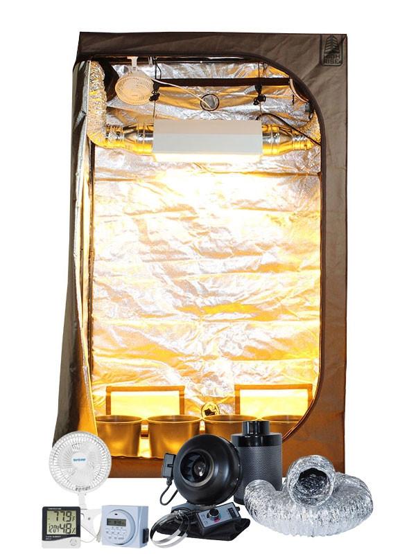 High Rise 2u0027 x 4u0027 Delux 600W HPS/MH Air-Cooled Grow Tent Kit  sc 1 st  Hydrobuilder.com & Rise 2u0027 x 4u0027 Delux 600W HPS/MH Air-Cooled Grow Tent Kit