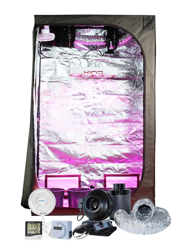 High Rise 2u0027 x 4u0027 KIND K3 L450 LED Grow Tent Kit  sc 1 st  Hydrobuilder.com & Rise 2u0027 x 4u0027 KIND K3 L450 LED Grow Tent Kit