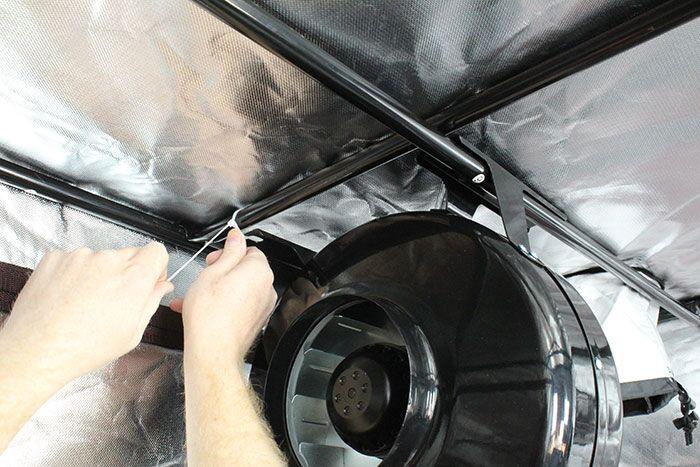 High Rise 5' x 5' 1000W HPS/MH Air-Cooled Grow Tent Kit