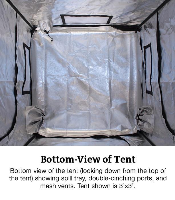 Covert 3' x 3' Veg Fluorescent T5 Soil Grow Tent Kit