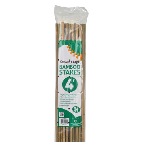 Grower 39 S Edge Natural Bamboo 4 Ft Pack Of 25