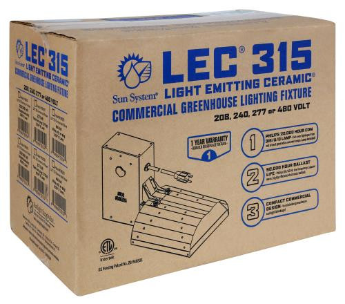 Sun System 315 Watt LEC Commercial Fixture with Lamp