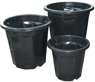 Black Plastic Planter pack of 75