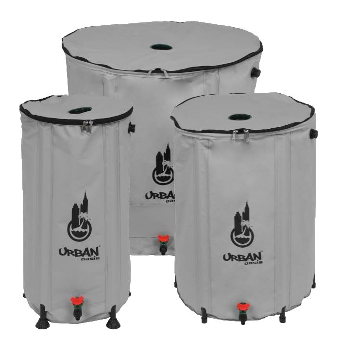 Urban Oasis Collapsible Water Storage Barrel 20 Gallon Hydroponic