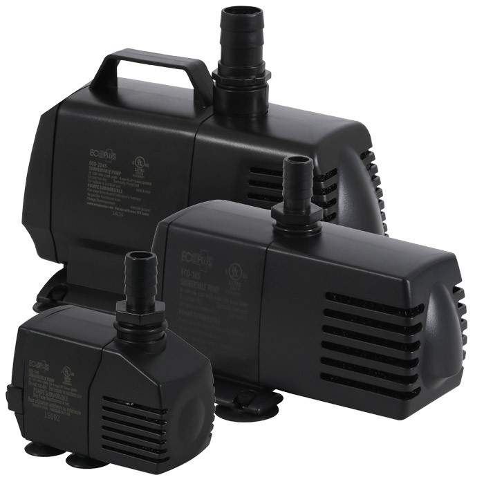 Ecoplus fixed flow submersible inline pumps for Inline hydroponic pump