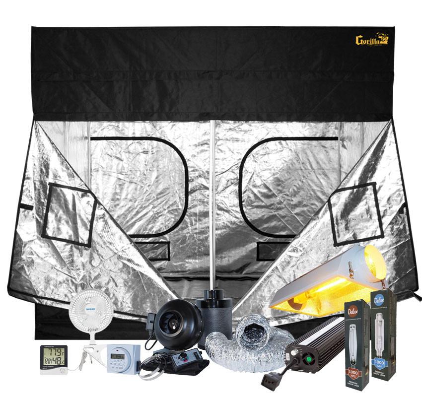 Gorilla Grow Tent 9' x 9' 1000W HPS Air-Cooled Grow Tent Kit