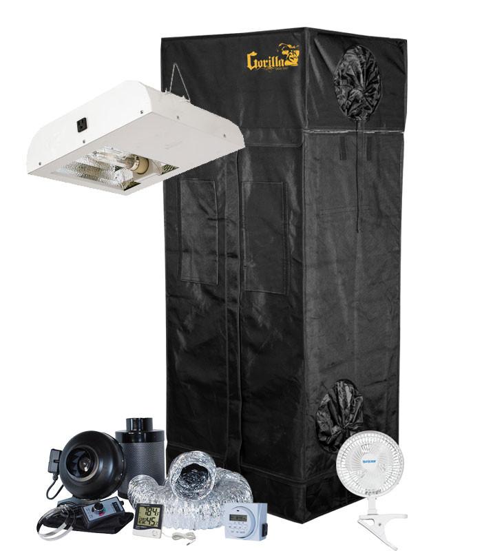 Gorilla Grow Tent 2' x 2.5' Sun System 315W LEC Grow Tent Kit