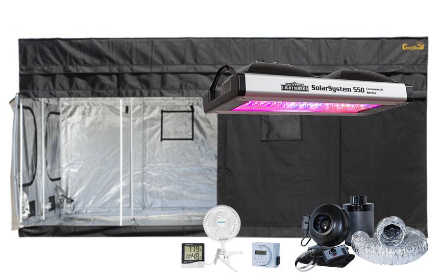 Gorilla Grow Tent 8' x 16' California Lightworks Solar System 550W LED Grow Tent Kit