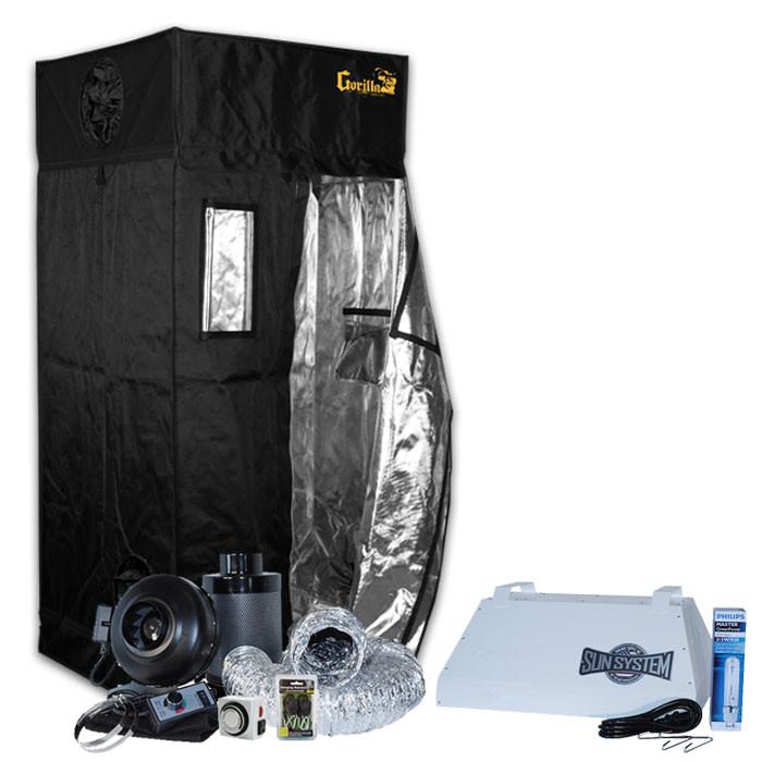 Gorilla Grow Tent 3' x 3' Sun System 315W LEC Grow Tent Kit