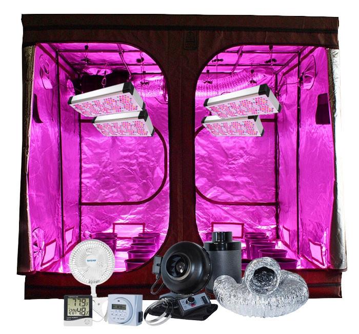 High Rise 8u0027 x 8u0027 AgroLED 450W LED Grow Tent Kit  sc 1 st  Hydrobuilder.com & Rise 8u0027 x 8u0027 AgroLED 450W LED Grow Tent Kit