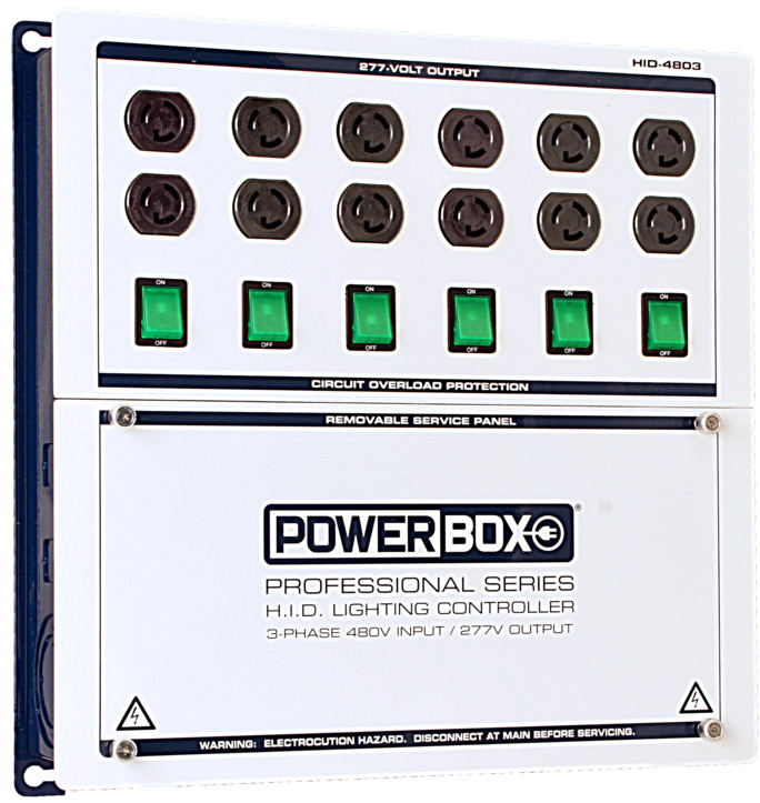 powerbox pro series 12 light hid controller 480v input. Black Bedroom Furniture Sets. Home Design Ideas