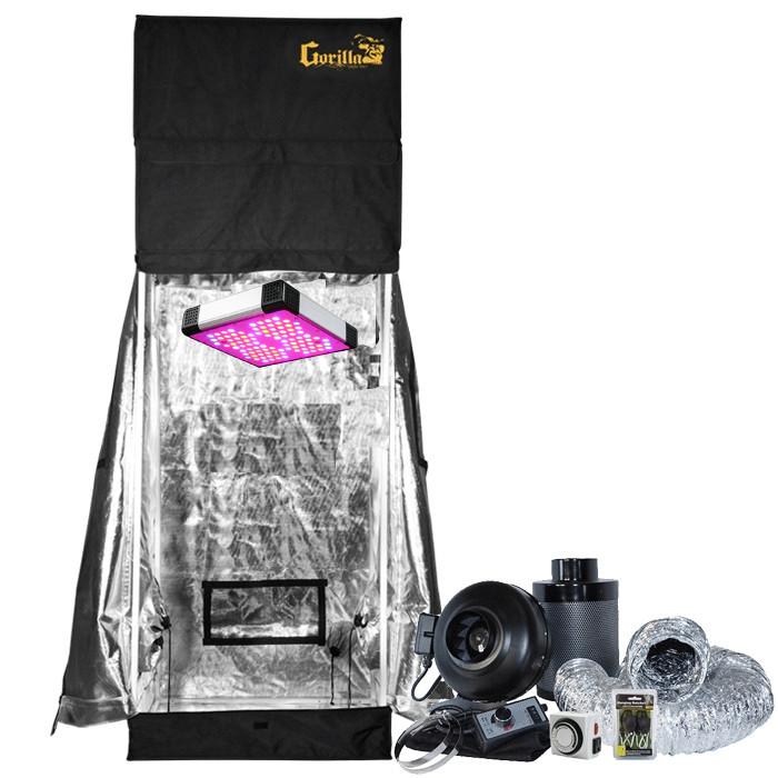 Gorilla Grow Tent 2' x 2.5' AgroLED 175W LED Grow Tent Kit