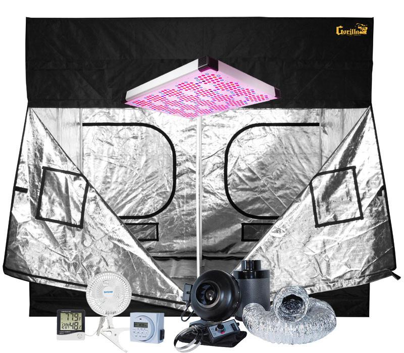 Gorilla Grow Tent 9' x 9' AgroLED 865W LED Grow Tent Kit