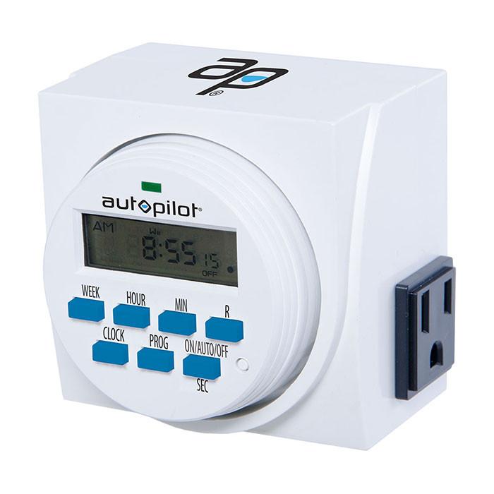 Autopilot 7 Day Dual Outlet Digital Timer Grow Light