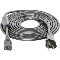 Hydrofarm  Power Cord For Phantom, Phantom DE, and Xtrasun Ballasts with Ferrite Ring, 15', 240V