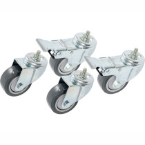 Hydrofarm VGS Caster Wheel Pack for VGS300 & VGS600 Vertical Grow Shelf Systems, pack of 4