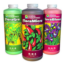 General Hydroponics Flora Series Basic Nutrient Package