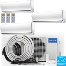 MRCOOL Olympus Ductless Split Air Conditioner System with Heat Pump - 3 Zone Wall Mounted with Install Kit, 230V