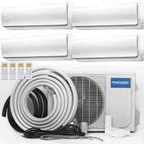 MRCOOL Olympus Ductless Split Air Conditioner System with Heat Pump - 4 Zone Wall Mounted with Install Kit, 230V