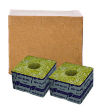 "Grodan Delta 4  Block, 3""x3""x2.5"" With Hole, Case of 384"