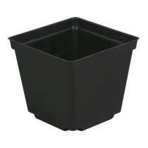 Gro Pro Black Plastic Pot, 3.5 x 3.5 x 3 in