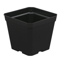 Gro Pro Black Plastic Pot, 4 x 4 x 3.5 in