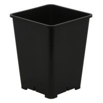 Gro Pro Premium Black Square Pot 6 in x 6 in x 8 in, 1.25 Gallons