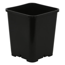 Gro Pro Premium Black Square Pot 7 in x 7 in x 9 in, 1.91 Gallons