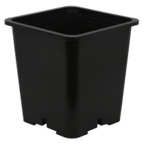 Gro Pro Premium Black Square Pot 9 in x 9 in x 10.5 in, 3.68 Gallons