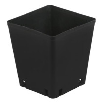 Gro Pro Black Plastic Square Pot, 5 x 5 x 5.25 in