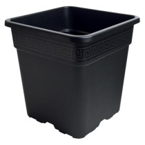 Gro Pro Black Square Pot, 1/2 Gallon