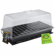 Super Sprouter Propagation Station with Heat Mat and 7 inch Dome - Plugs not included