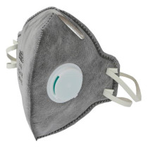 Grower's Edge Clean Room Vertical Fold-Flat Active Carbon Respirator Mask with Valve
