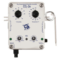 CO2 Controller, with PPM Option, Temp & Humidity Sensors, 2-Plugs, 15-Amp @ 120vac
