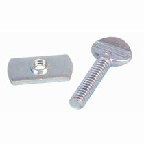 Light Rail 3.5/4.0 Switch Stops (Slide Nuts & Thumb Screws) - Pack of 6