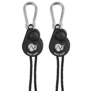 Sun Grip Push Button Light Hangers 1/8 in - Black - (2 Per Pack)