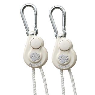Sun Grip Push Button Light Hangers 1/8 in - White - (2 Per Pack)