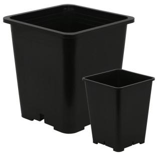 Gro Pro Premium Black Square Pot