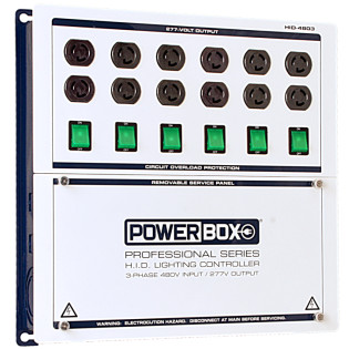 Powerbox Pro Series, 12 Light HID Controller, 480v Input/277v Output Three Phase
