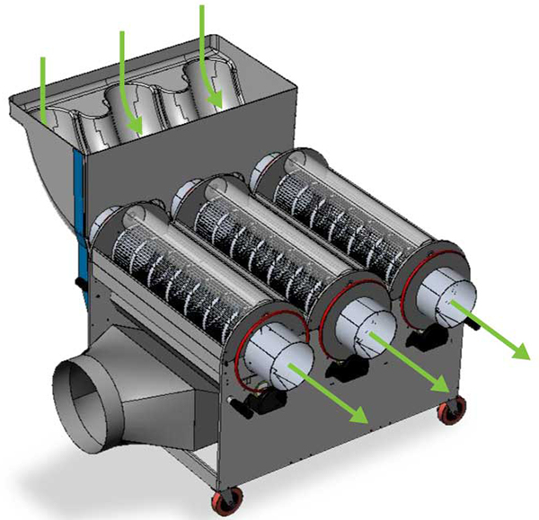The CenturionPro 3.0 Medical Grade Trimming Machine features a food grade hopper.
