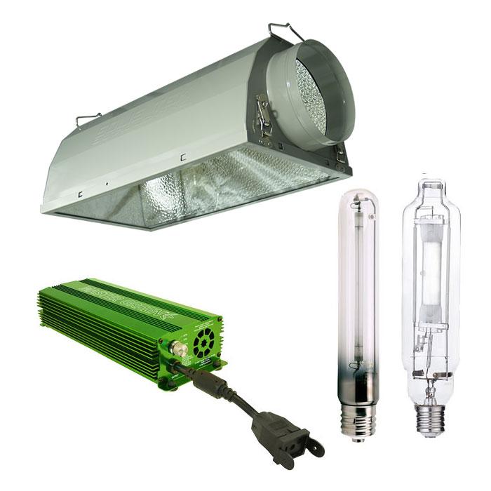 HBX 1000W Air-Cooled HPS/MH Economy Grow Light Kit