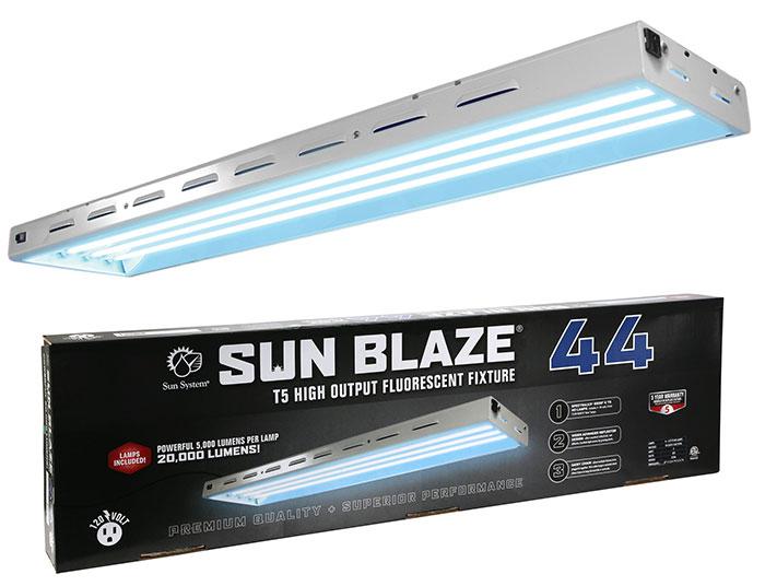 Sun Blaze T5 HO 44 - 4 ft, 4 Bulb Fixture with 6500K Bulbs