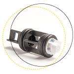 Non return valve on delivery